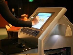 tecom interactive smart podium monitor pen display screen