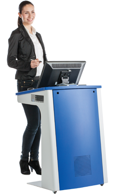 TecPodium lite av podium for lecture halls, boardroom, classroom training facilties all in one